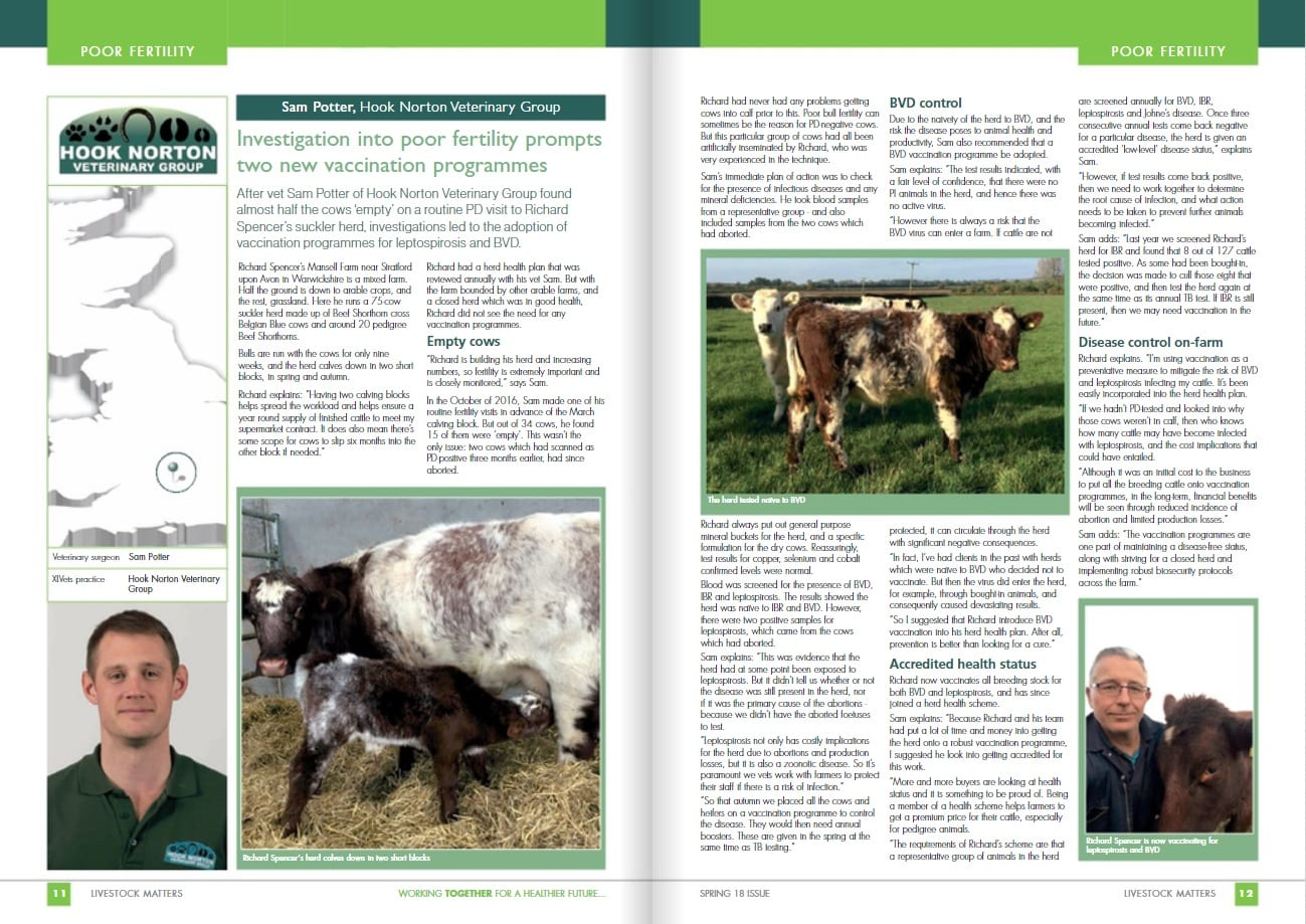 Farm Fertility Success - Hook Norton Veterinary Surgeons